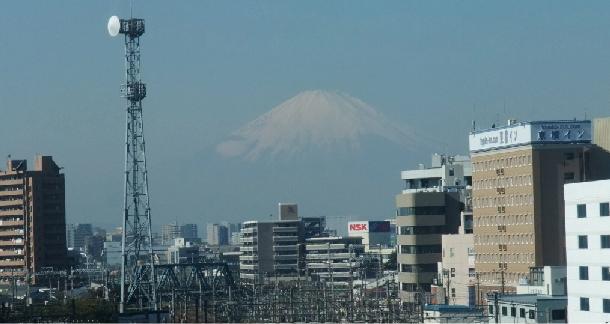 屋上から望む富士山